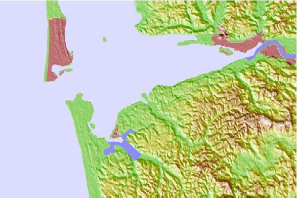 Tide stations located close to Markham, Grays Harbor, Washington