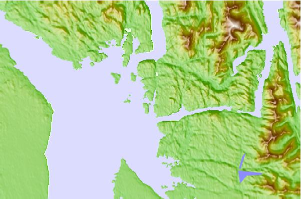 Tide stations located close to Milne Island, British Columbia