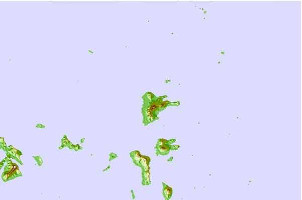 Tide stations located close to Moen Island, Chuuk, Federated States of Micronesia