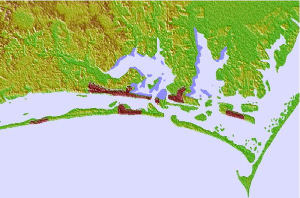 Tide stations located close to Morehead City, North Carolina