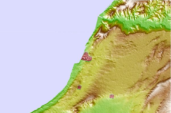 Tide stations located close to Mostaganem