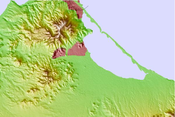 Tide stations located close to Nador