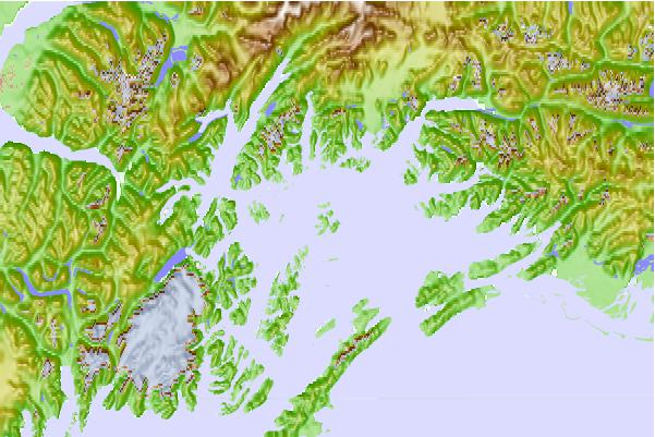 Tide stations located close to Naked Island, McPherson Passage, Alaska