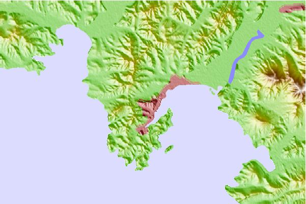 Tide stations located close to Nakhodka