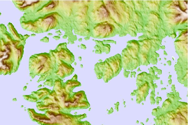 Tide stations located close to Natalia Point, Tlevak Strait, Alaska