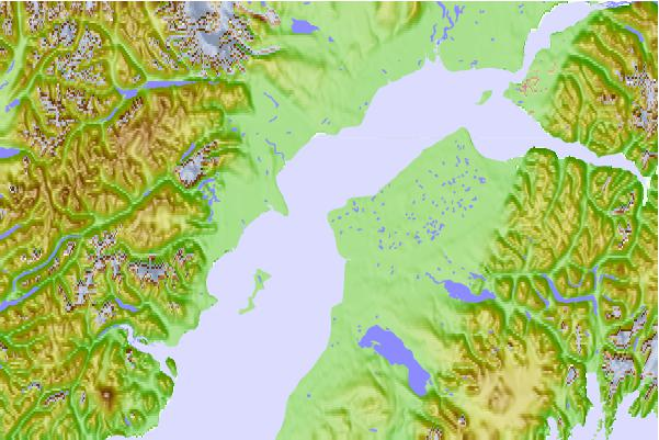 Tide stations located close to Nikiski, Cook Inlet, Alaska