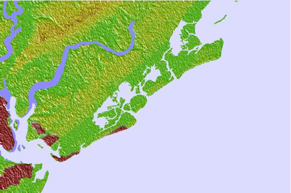 Tide stations located close to North Dewees Island, Capers Inlet, South Carolina