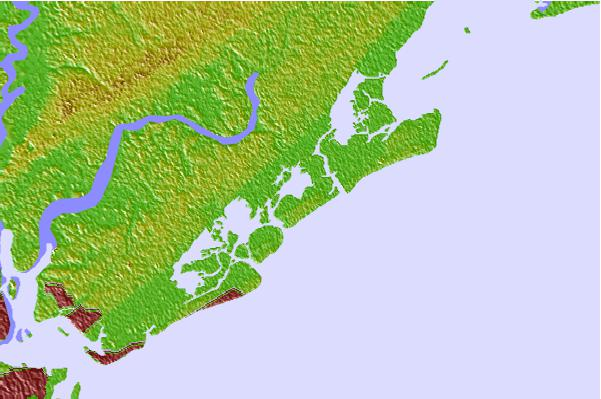 Tide stations located close to Old Capers Landing, Santee Pass, Capers Island, South Carolina