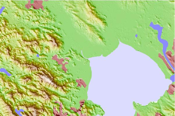 Tide stations located close to Petaluma River entrance, San Pablo Bay, California