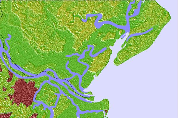 Tide stations located close to Pine Island, Ramshorn Creek, Cooper River, South Carolina