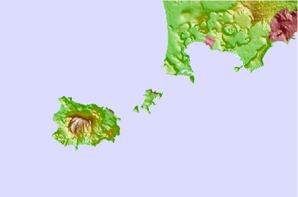 Tide stations located close to Procida