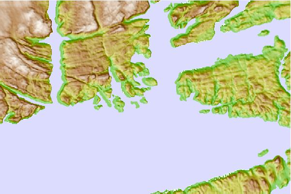 Tide stations located close to Pushthrough, Newfoundland