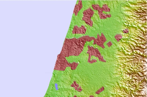 Tide stations located close to Ramat Gan