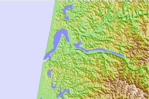 Umpqua River Map Reedsport Umpqua River