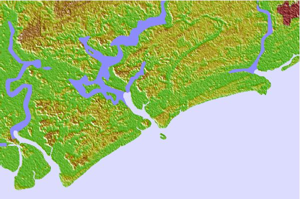 Tide stations located close to Rockville, Bohicket Creek, South Carolina