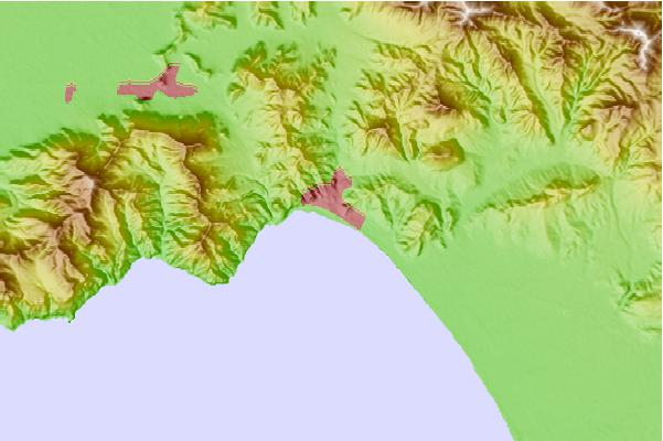 Tide stations located close to Salerno