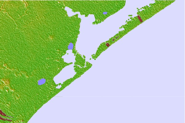 Tide stations located close to San Luis Pass, Texas