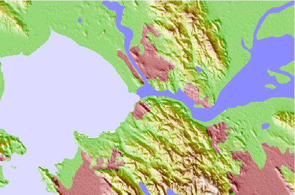 Tide stations located close to Selby, Carquinez Strait, California