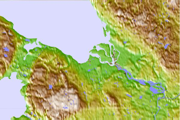 Tide stations located close to Severodvinsk