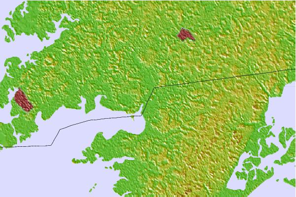 Tide stations located close to Shelltown, Pocomoke River, Chesapeake Bay, Maryland