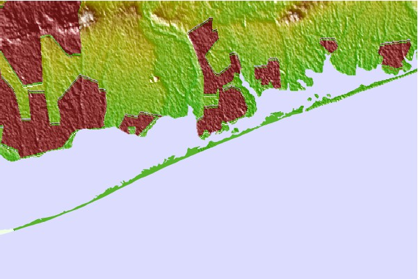 Tide stations located close to Smith Point Bridge, Narrow Bay, Long Island, New York