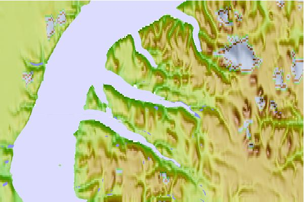 Tide stations located close to Strathcona Sound, Nunavut