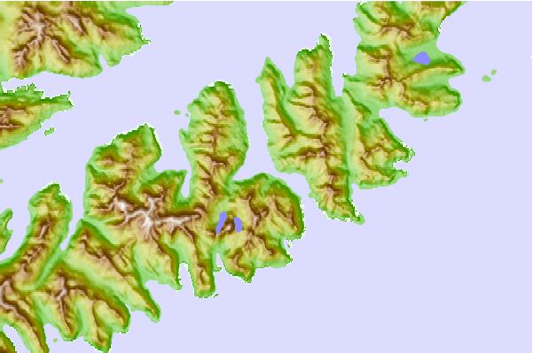 Tide stations located close to Udagak Strait, Unalaska Island, Alaska