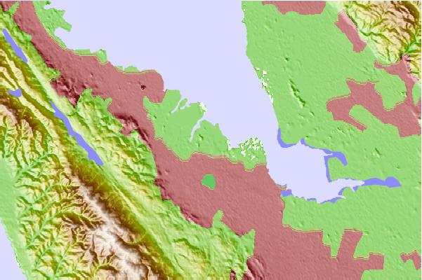 Tide stations located close to West Point Slough, San Francisco Bay, California