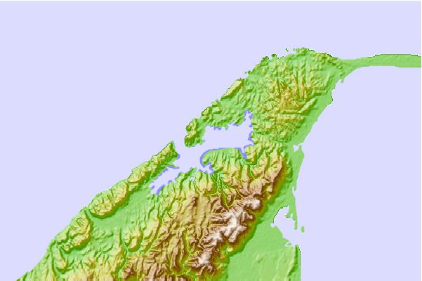 Tide stations located close to Whanganui Inlet, New Zealand