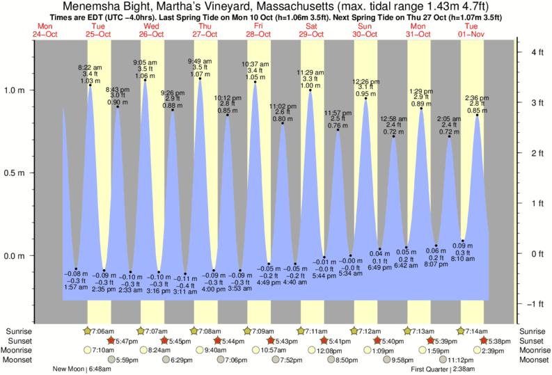 Tide times and tide chart for menemsha bight martha s vineyard