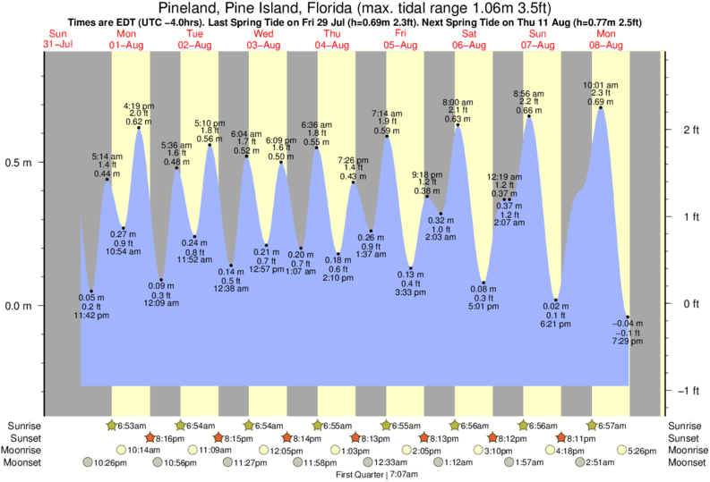 Pineland, Pine Island, Florida tide times for the next 7 days